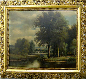 Pair of oil on board country landscapes
