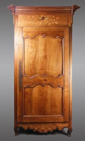French Provincial Single Door Armoire