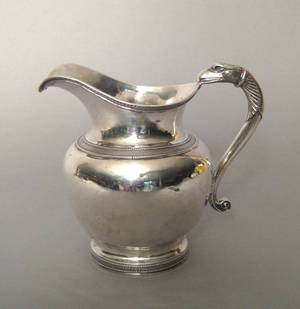 Boston Massachusetts silver pitcher ca 1815