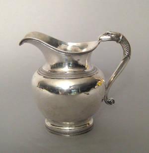 Boston Massachusetts silver pitcher ca 1815