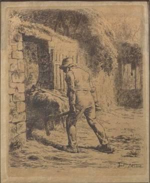 Jean Franois Millet French 18141875 Le Paysan Rentrant du Fumier