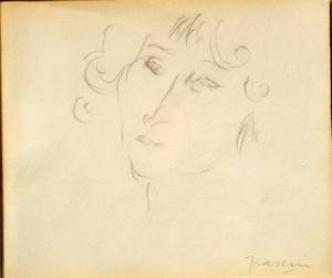 Jules Pascin French 18851930 Head of a Woman