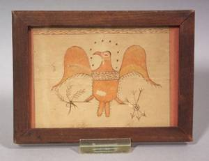 American School 19th Century Portrait of an Eagle with Arrows and Olive Branches