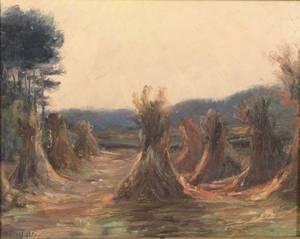 Charles Harold Davis American 18561933 Haystacks