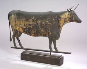 Molded Copper Cow Weather Vane