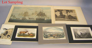 Large group of unframed print works to include examples by Frost