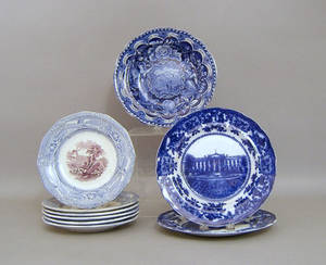 Twentytwo pieces of misc pottery and porcelain to include Staffordshire