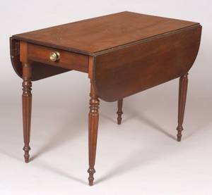 Classical Mahogany and Mahogany Veneer Pembroke Table