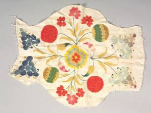 Wool and Linen Crewelwork Fragment