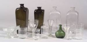 Seventeen Pieces of Early Blown Glass