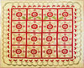 Yellow appliqu quilt late 19th c