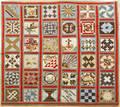 Patchwork sampler quilt 19th c