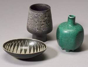 Three Pieces of Scandinavian Pottery