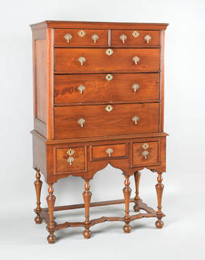 Philadelphia William  Mary walnut high chest ca 1740