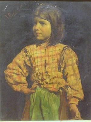 Framed Oil of a Little Girl