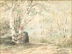 Louis Kinney Harlow American 18501930 BirchLined Path
