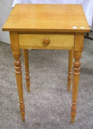 Federal Maple and Cherry Single Drawer Work Table