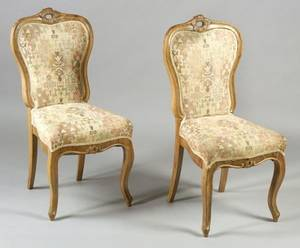 Pair of Rococo Revival Walnut Side Chairs
