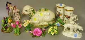 Eleven Assorted English and European Decorative Ceramic Items