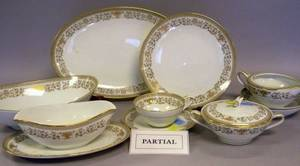 Fiftyfive Piece Noritake Gracelyn Pattern Transfer Decorated Porcelain Partial Dinner Service