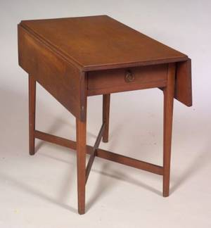 Federal Tiger Maple and Cherry Pembroke Table