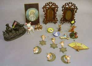 Group of Assorted Decorative Items and Christmas Articles