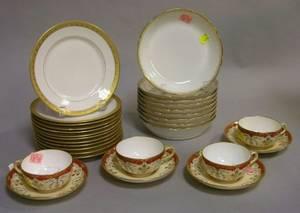 Twentynine Pieces of Assorted Porcelain Tableware
