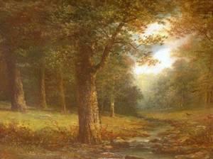 Framed Oil of a Woodland Stream