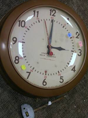 Self Winding Clock Co Painted Metal Cased Gallery Wall Clock