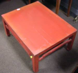 Chinese Red Lacquer Low Table