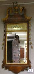 Federalstyle Mahogany Inlaid and Parcelgilt Mirror