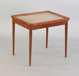 English silk on linen sampler early 19th c