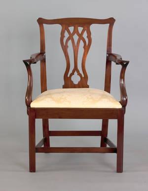 George III mahogany armchair ca 1770