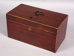 Mahogany Inlaid Tea Caddy
