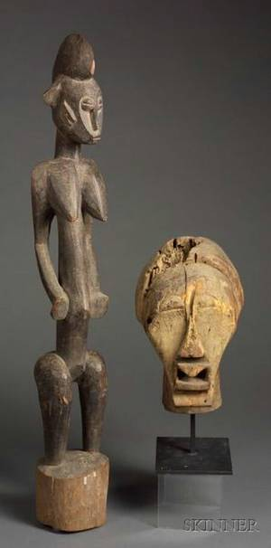 Two African Carved Wooden Items