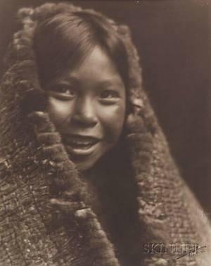 Edward S Curtis American 18681952 Original Photograph Clayoquot Girl