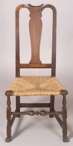 Queen Anne Cherry Grainpainted Side Chair