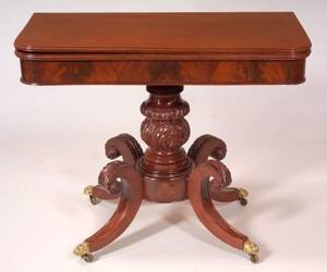 Classical Carved Mahogany Games Table