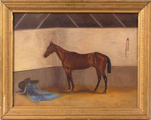 William Van Zandt American 19th Century Portrait of a Thoroughbred Young Duke