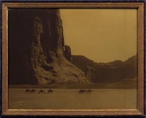 Edward Curtis American 18681952 Signed Original Orotone Photograph