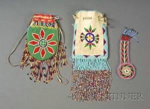 Three Beaded Items from the Fort Sill Oklahoma Area