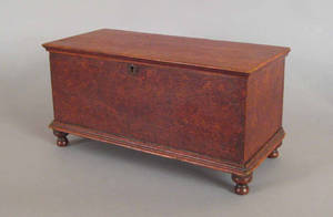 Pennsylvania miniature painted blanket chest 19th c