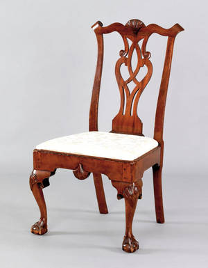Delaware Valley Chippendale mahogany dining chair ca 1770