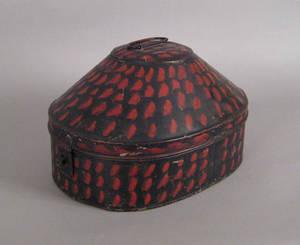 Tole decorated hatbox 19th c