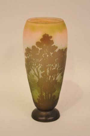 Galle Cameo Scenic Vase
