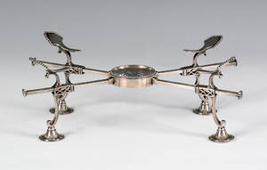 English silver dish cross ca 1780