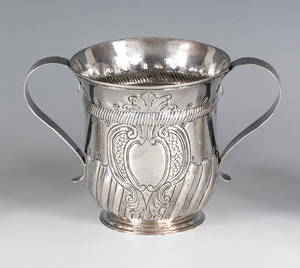 Georgian silver caudle cup ca 17611762