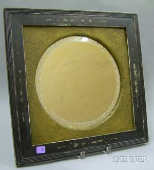Victorian Ebonized Framed Baker  Clarks Daisy Queen Cigars Etched Beveled Glass Advertising Mirror