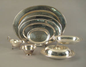 Set of International sterling silver serving pieces