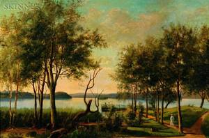 Swedish School 19th Century View of the Lake